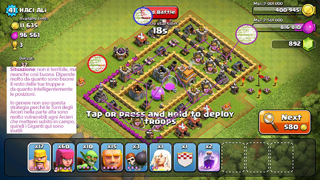 Guida strategica truppe Clash of Clans