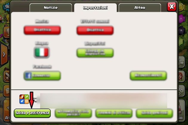 how to delete clash of clans account from game center