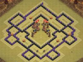 Layout per farmare Elisir Nero e per la Guerra tra Clan al Municipio livello 8