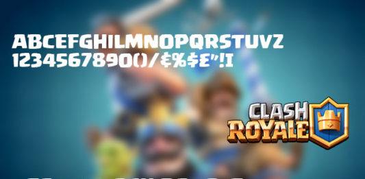 Download Font Clash Royale