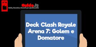 Deck Clash Royale Arena 7: Golem e Domatore